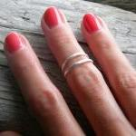 Sterling silver knuckle ring, stack..