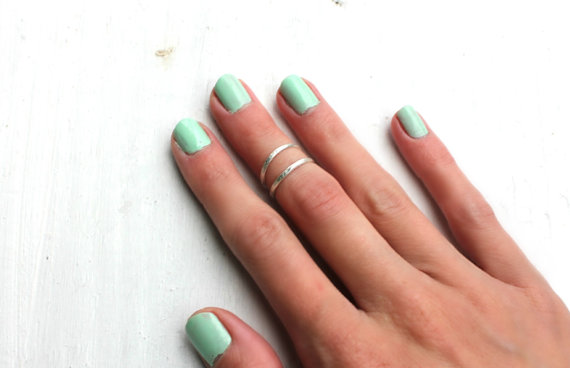 Sterling silver knuckle ring, stacking rings - midi rings, hammered, textured knuckle rings, silver rings